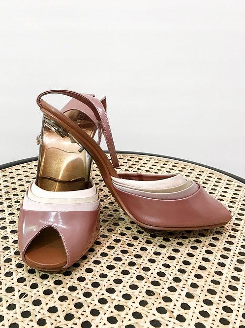 Fendi -Chaussures talons roses
