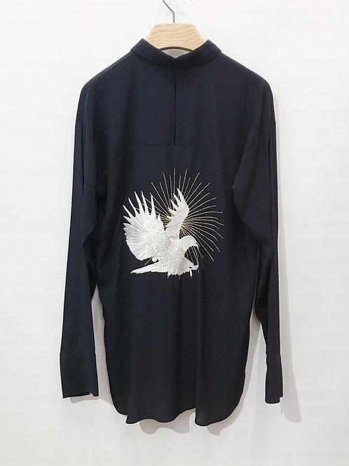 Valentine Gauthier - Chemise navy dos oiseau