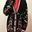 Thumbnail: Maje - Veste à fleurs noire et rose