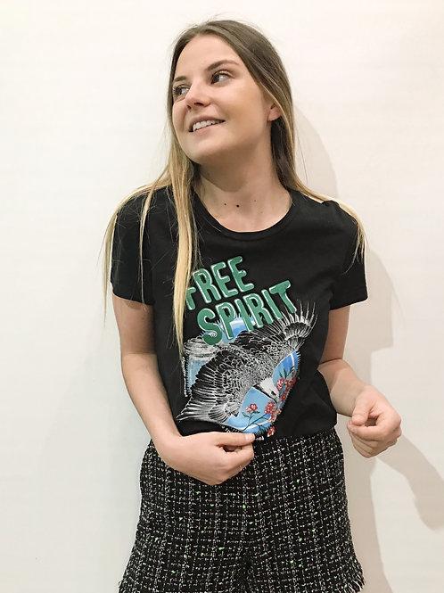 Claudie Pierlot - T-shirt noir imprimé