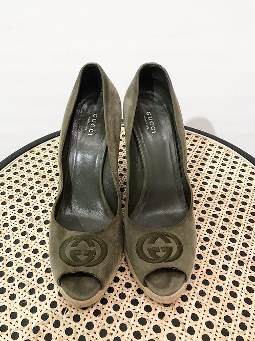 Gucci - Compensées kaki
