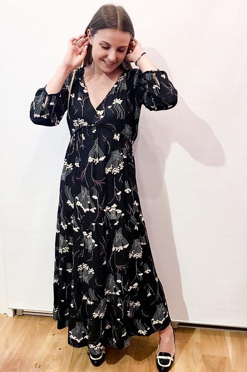 Ba&sh - Robe longue noire imprimée