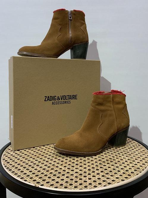 Zadig & Voltaire - Bottines en daim camel