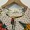 Thumbnail: Dixie - Blouse Beige à pois imprimée fleurs