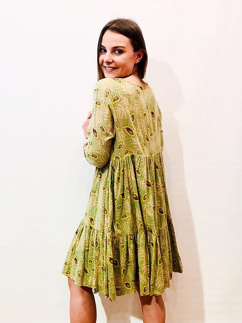 Ba&sh - Robe verte imprimée
