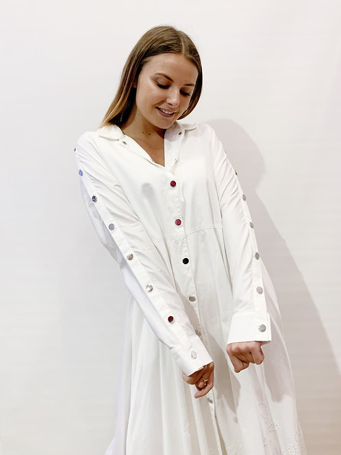 Maje - Robe blanche manches longues