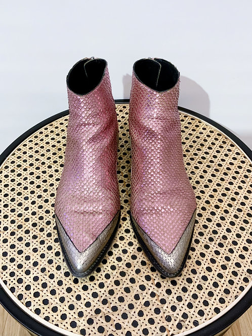 Zadig & Voltaire - Boots roses python