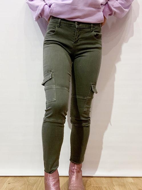 Berenice - Pantalon treillis kaki