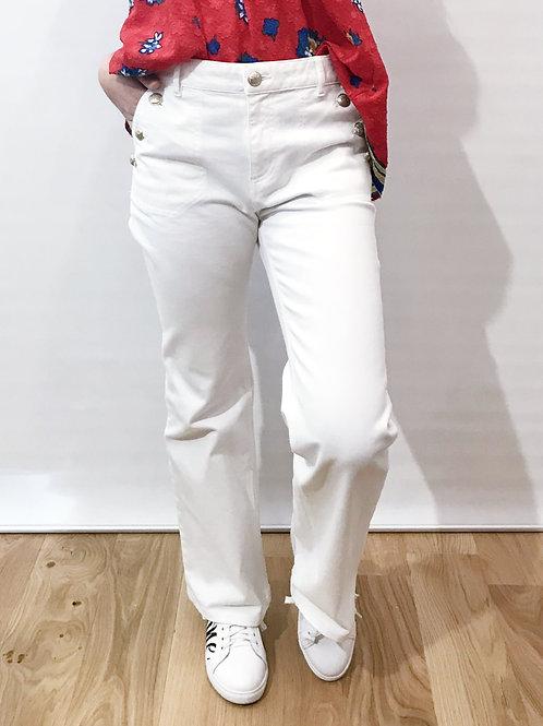 Gérard Darel - Pantalon flare blanc