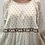 Thumbnail: Sézane - Robe beige imprimée à manches longues