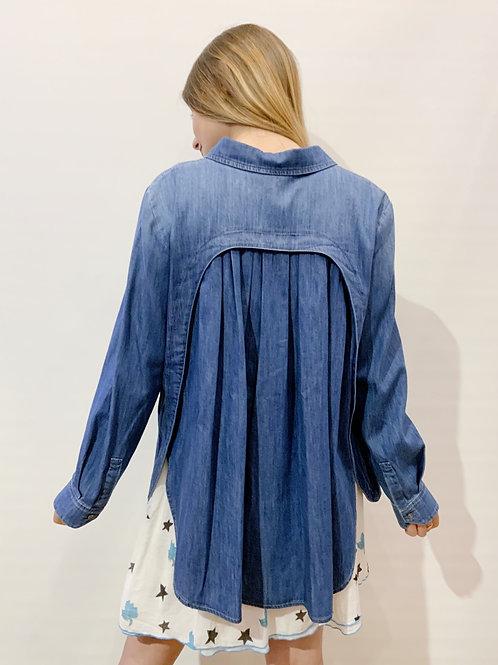 Hana San - Chemise jean bleue