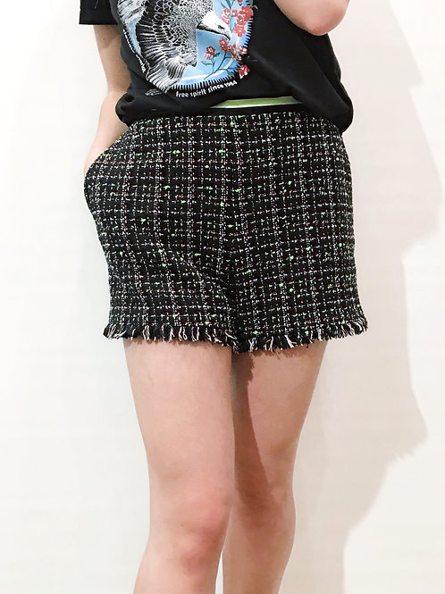 Claudie Pierlot -Short noir et vert fluo