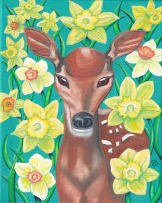 Doe and Daffodils