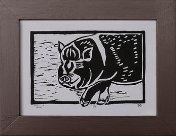 Groot Linocut Print 1/3