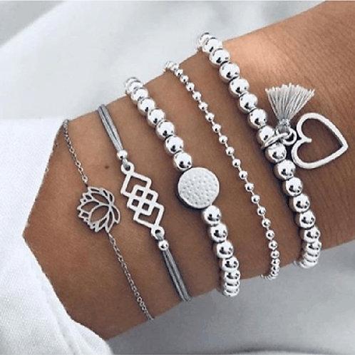Bohemian Bracelets & Bangles Set Vintage Beads Charm Bracelets