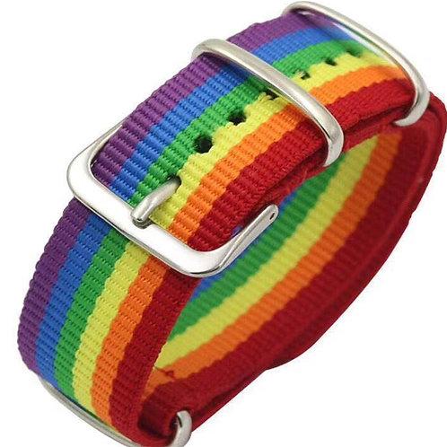 Nepal Rainbow Pride Bracelet - Woven Braided Buckled