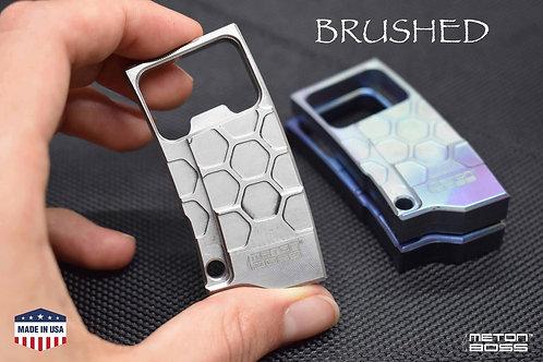TITANIUM Bottle Opener BRUSHED Keychain