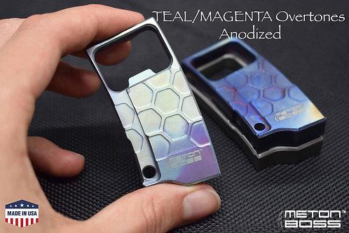 TITANIUM Bottle Opener TEAL anodized Keychain