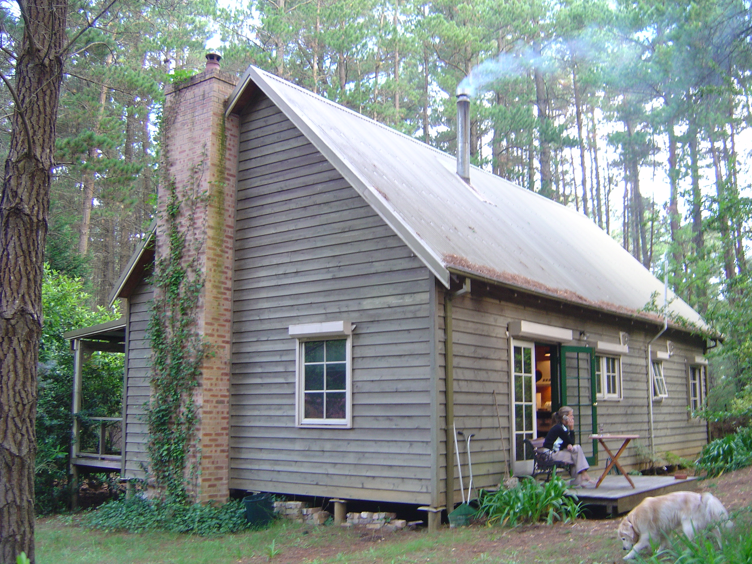 Rear of cabin