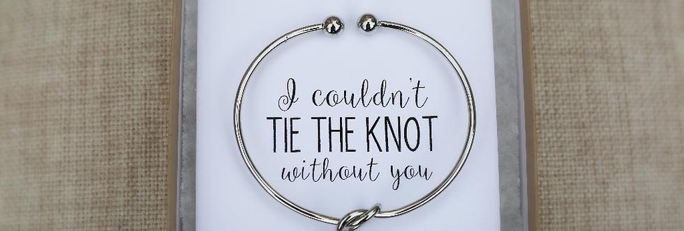 Silver Gold Cuff Knot Bracelet