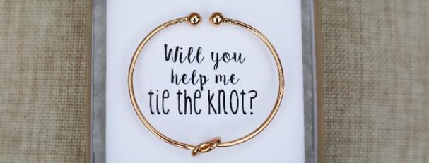 Gold Cuff Knot Bracelet