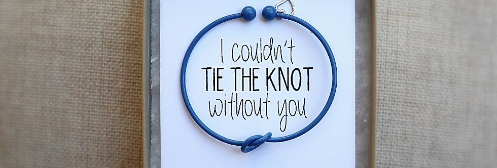 Blue Cuff Knot Bracelet