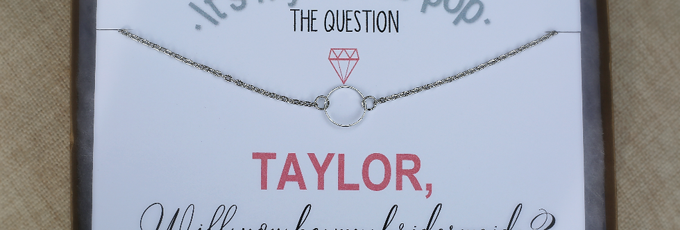 Circle Necklace--Taylor