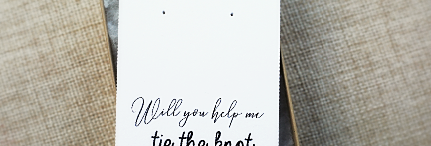 Earring Cards & Box--Will you help me tie the knot