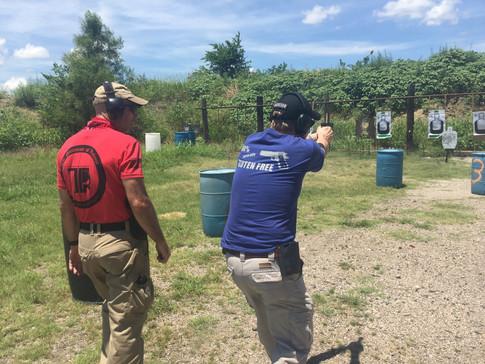 Advanced pistol training