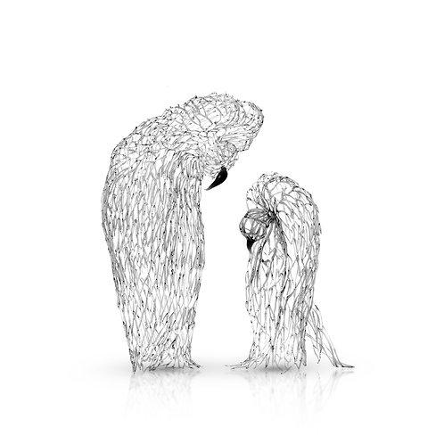 Gray Birds- Couple ,   Sculpture