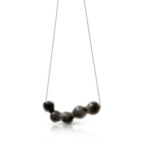 Gray Glass Necklace