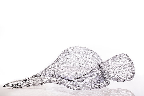 Sleeping Gray Bird, Sculpture