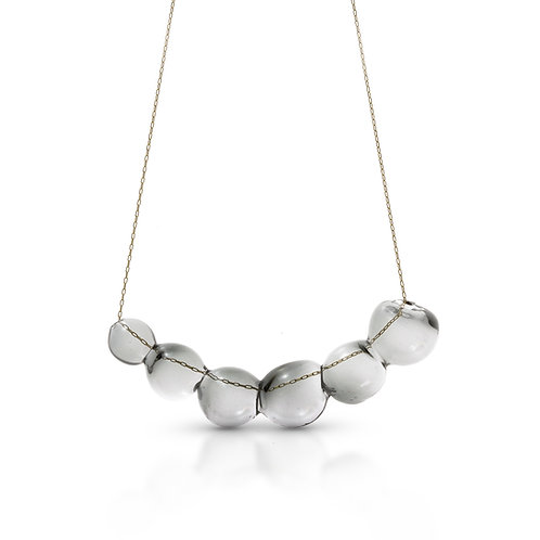 Light Gray Glass Necklace