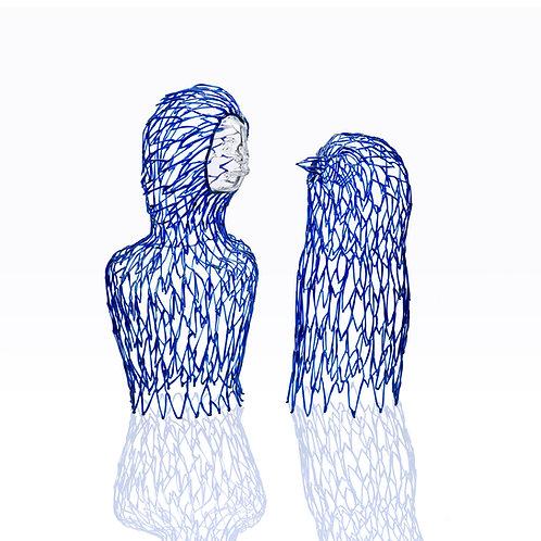 Couple Blue Birds,  Sculpture