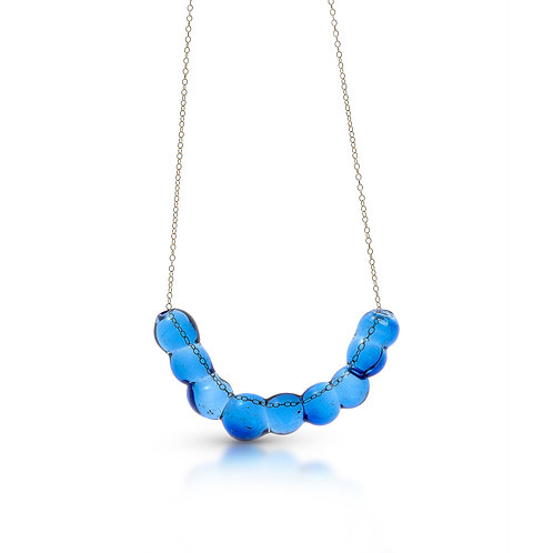 Light Blue Glass Necklace