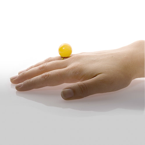 Yellow Glass Ring