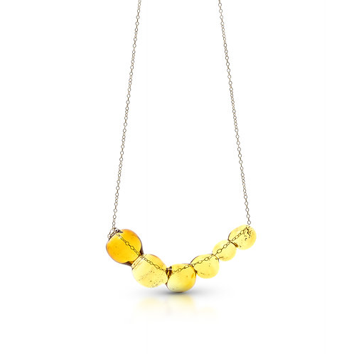 Yellow Glass Necklace