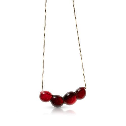 Dark Red Glass Necklace