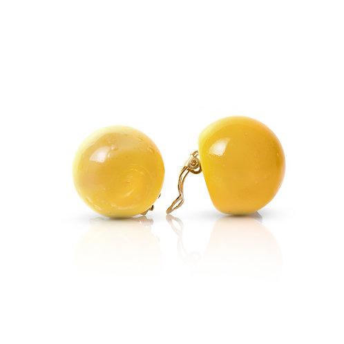 Yellow Glass Earings