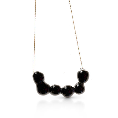 Black Glass Necklace