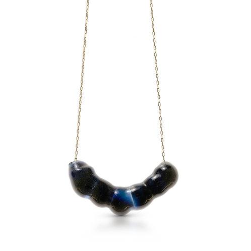 Dark blue Glass Necklace