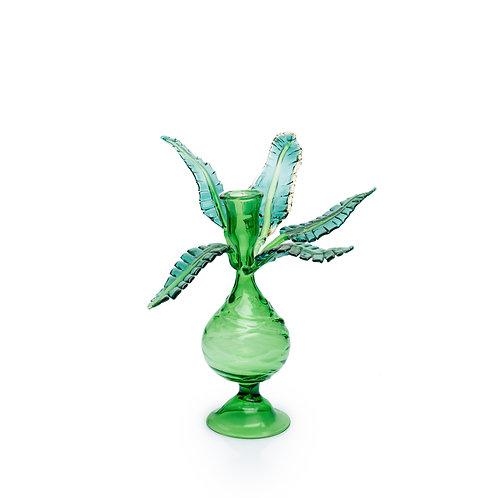 Tropical TreeGlass Candlestick