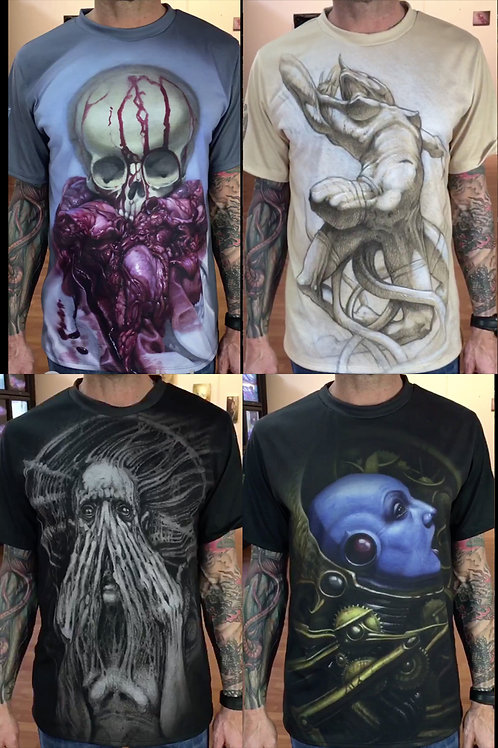 Limited Edition Art Print Shirts - Set of 4 -