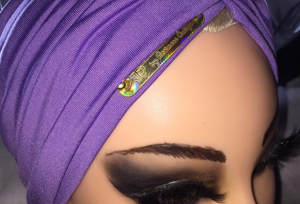faixa que vira turbante lilás