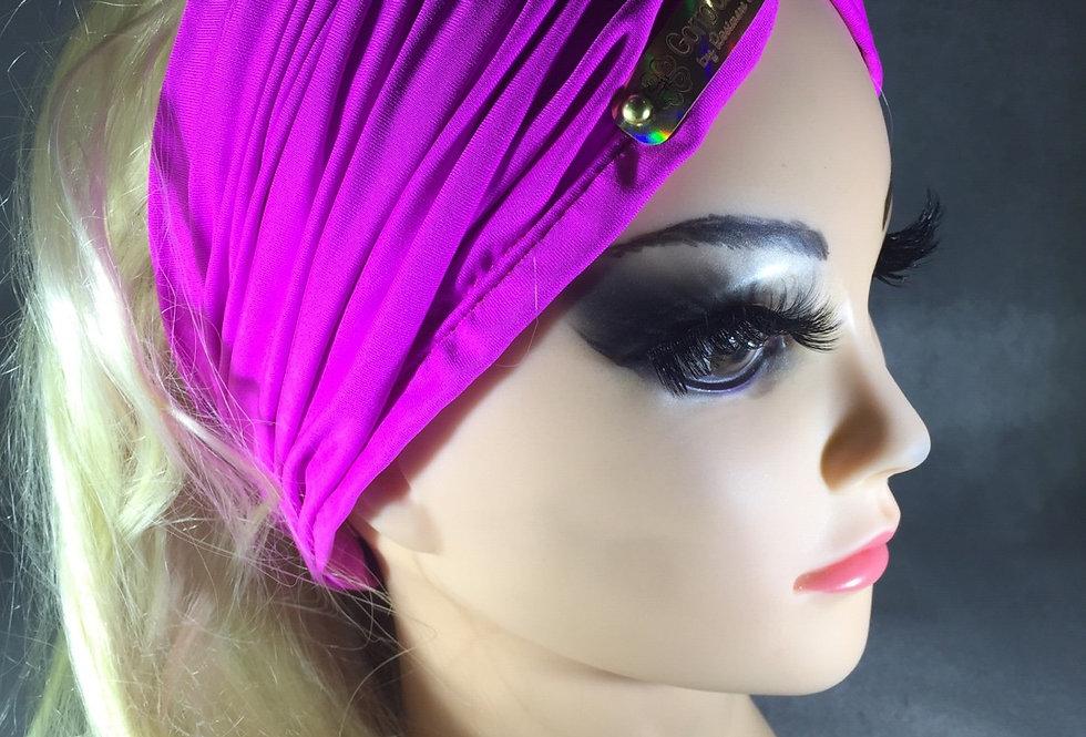 Faixa que vira turbante pink