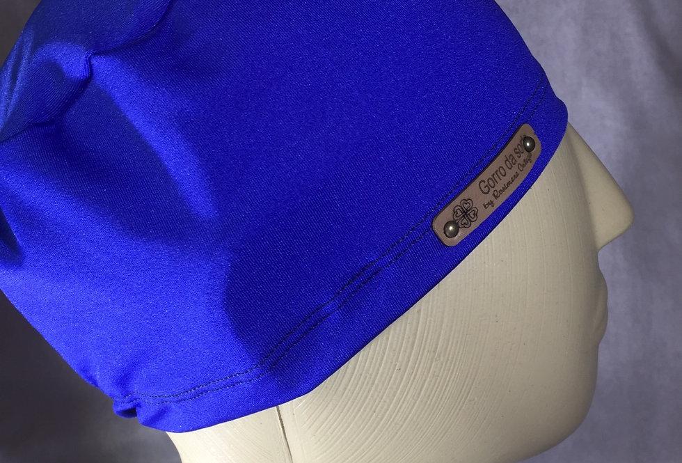 gorro simples de elástico azul caneta