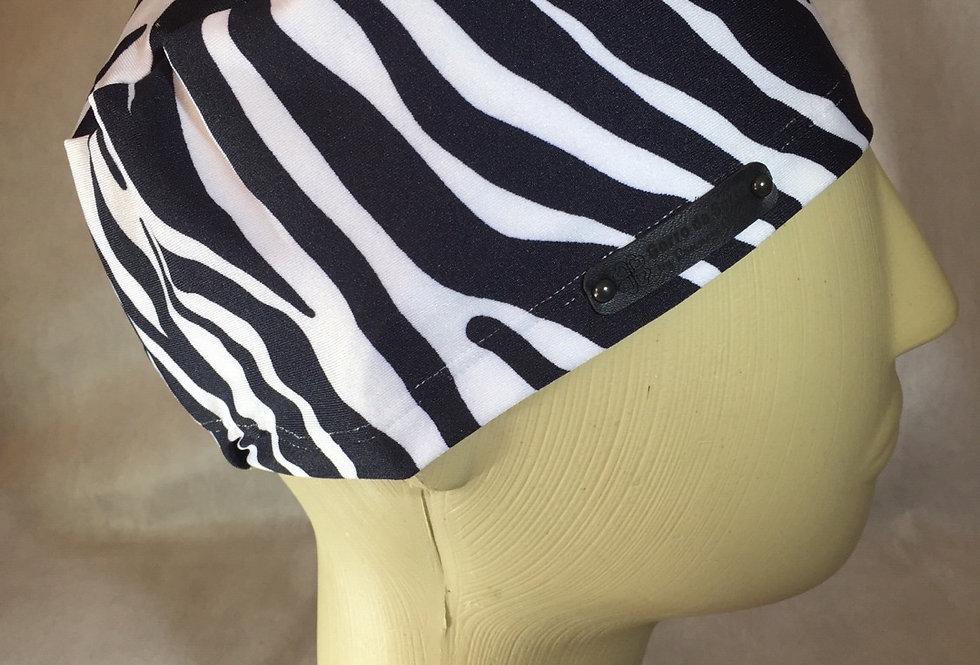 Gorro simples de elástico zebrinha