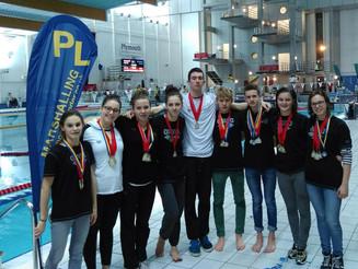 Les nageurs de série Nationale à Plymouth