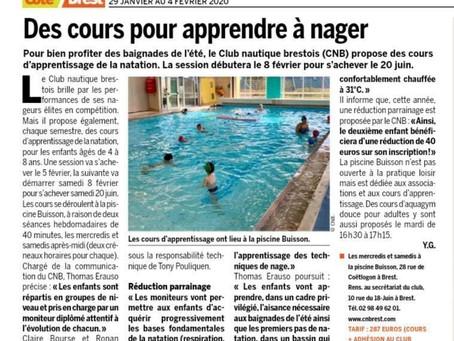 Des cours pour apprendre à nager