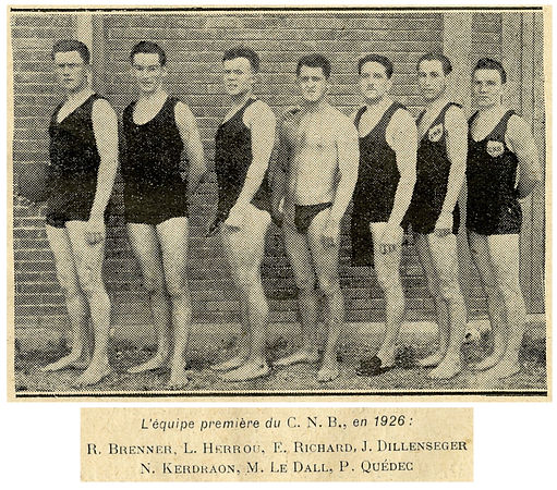 1926 équipe waterpolo CNB champions